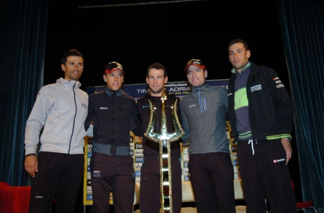 Will Cadel Evans be able to defend his Tirreno-Adriatico champion title? Stay tuned to Roadcycling.com and Universal Sports to find out. Photo Fotoreporter Sirotti.