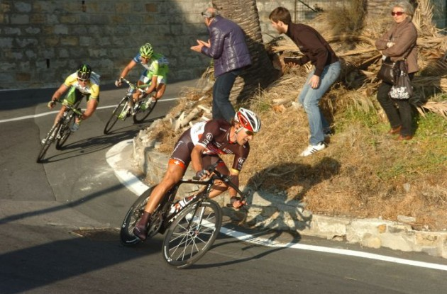 Fabian Cancellara attacks. Photo Fotoreporter Sirotti.