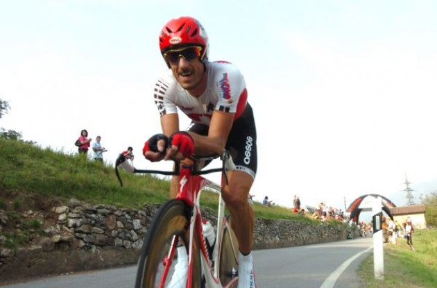 Fabian Cancellara on his way to a gold medal win on home turf. Photo copyright Fotoreporter Sirotti.