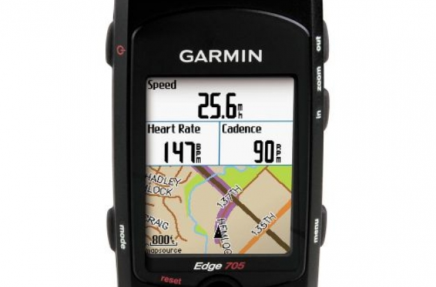 Garmin Edge 705 GPS bike computer.