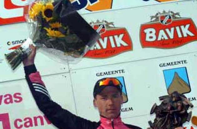 Andreas Klier on the podium. Photo copyright Fotoreporter Sirotti