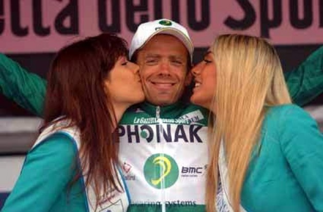 Alexandre Moos (Phonak Hearing Systems) leads the mountains classification