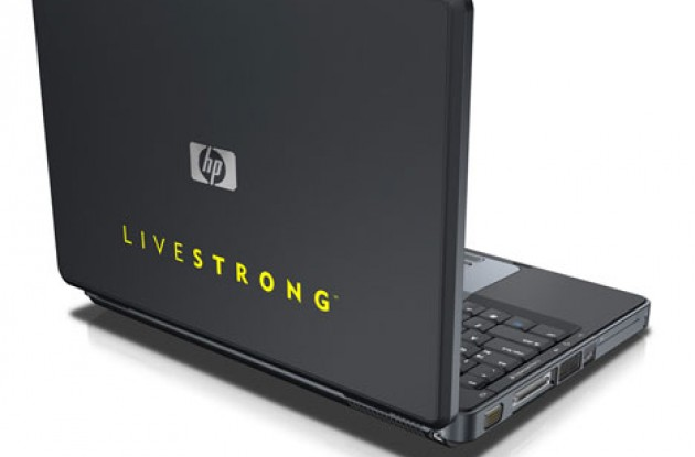 HP Special Edition L2000 laptop - Join the Livestrong revolution today. Photo copyright Roadcycling.com.