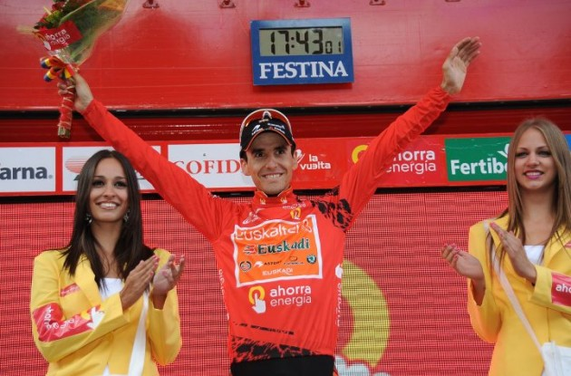 Igor Anton leads the 2010 Vuelta a Espana. Photo copyright Fotoreporter Sirotti.