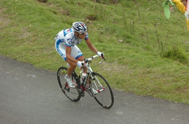 Jeremy Roy of team FDJ showed great courage today - courage which the Tour de France GC riders lacked completely today. Photo Fotoreporter Sirotti.