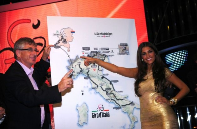2010 Tour of Italy / Giro d'Italia route presentation .. Italy style. Photo copyright Fotoreporter Sirotti.