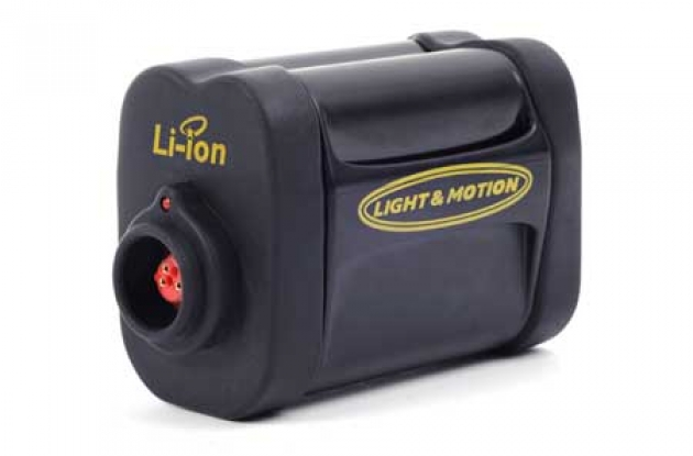 Light and Motion Seca 700 Race LED front bike light battery.
