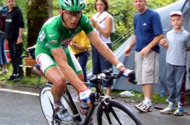 Robbie McEwen - not the best stage for the green jersey!