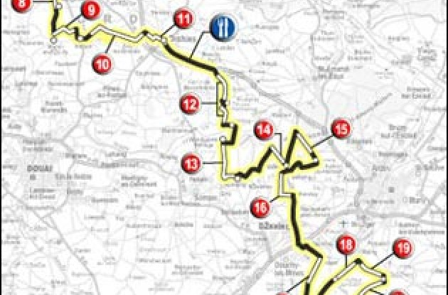 26 sections of pave will do as much to determine the outcome of the 261-km race as anything that the riders do.