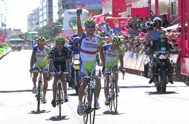 Peter Sagan wins again! Photo copyright Fotoreporter Sirotti.