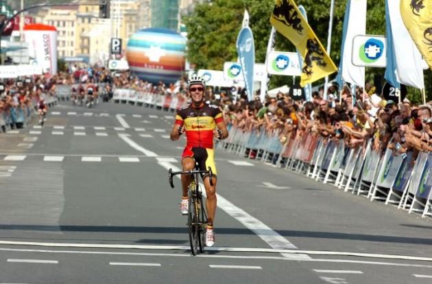 Philippe Gilbert wins San Sebastian Classic 2011. Photo Fotoreporter Sirotti.
