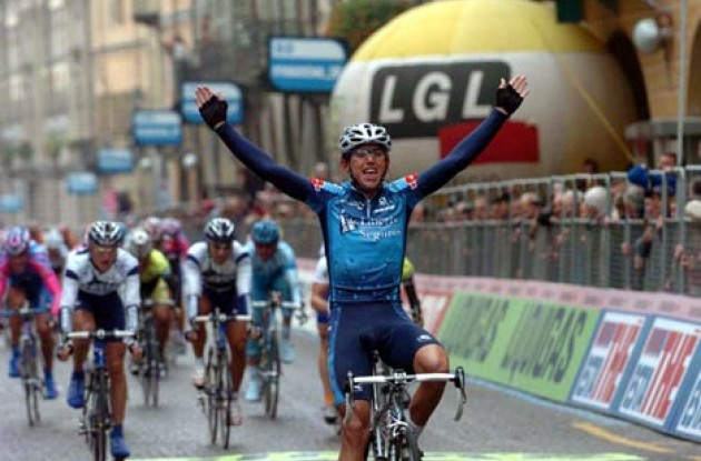 Allan Davis (Aus) Liberty Seguros takes the win. Photo copyright Fotoreporter Sirotti.