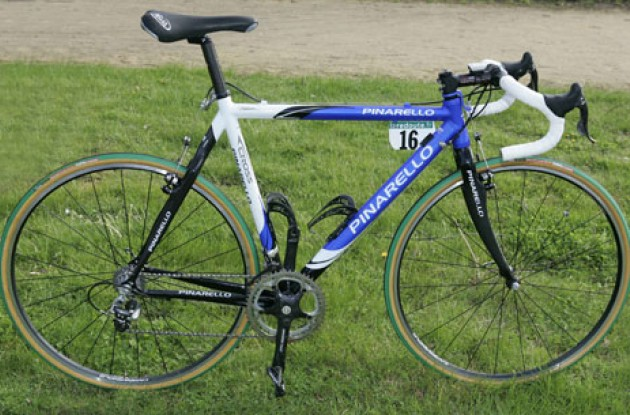 Flecha's Pinarello Dogma FP-Cross ready to battle on the cobbles. Photo copyright Roadcycling.com.