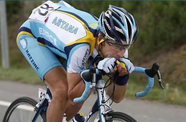 """José Luis """"Chechu"""" Rubiera (Team Astana)."""