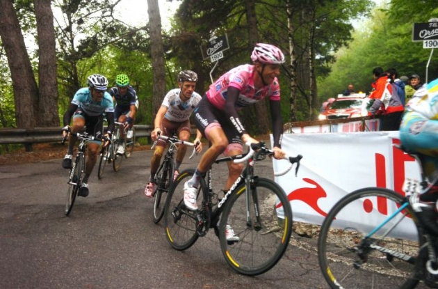 Team Garmin-Barracuda's Ryder Hesjedal fought hard today. Photo Fotoreporter Sirotti.