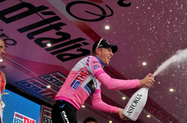 Team Garmin-Barracuda's Ryder Hesjedal attacked today and regained the overall Giro d'Italia lead.
