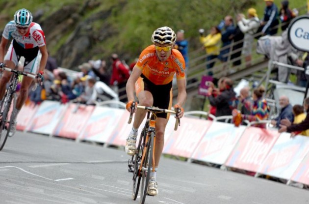 Samuel Sanchez will not participate in the 2011 world championships in road cycling. Photo Fotoreporter Sirotti.
