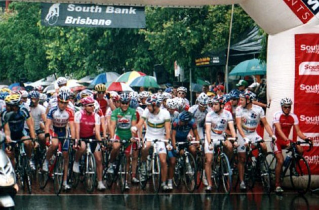 Vogels, White, Evans, McEwen, Wilson, Davis, McGee, Cooke (L to R). Photo copyright Ian Melvin/Roadcycling.com.