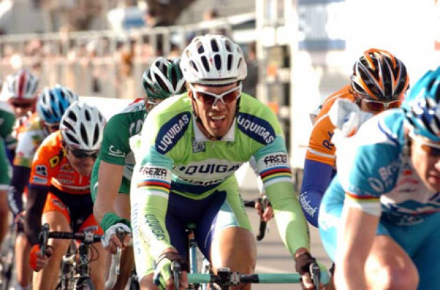 Cipollini placed 58th today. Photo copyright Fotoreporter Sirotti.