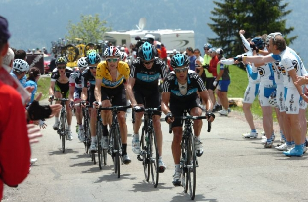 Team Sky Procycling has announced its 2012 Tour de France roster. Photo Fotoreporter Sirotti.