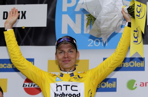 Tony Martin on the podium. Photo copyright Fotoreporter Sirotti.