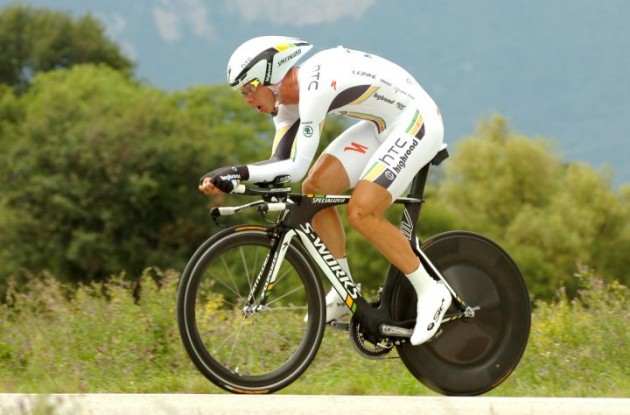 Tony Martin on his way to stage victory for Team HTC-HighRoad. Photo Fotoreporter Sirotti.