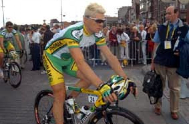Bert Grabsch told Roadcycling.com that Phonak's goal in today's stage was to stay clear of crashes and prevent Tyler Hamilton from losing important seconds in the overall standings.