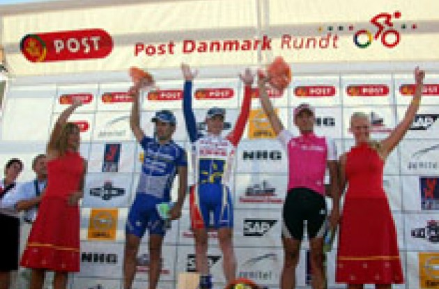 Top three on the podium in Esbjerg, Denmark.