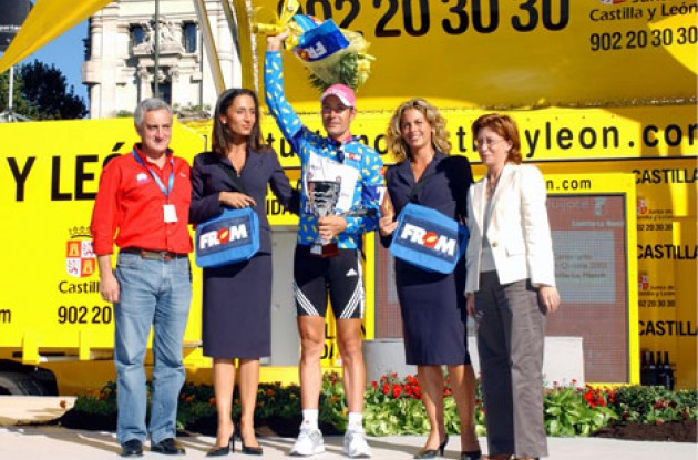 Erik Zabel (T-Mobile) won the sprinter competition. Photo copyright Unipublic.
