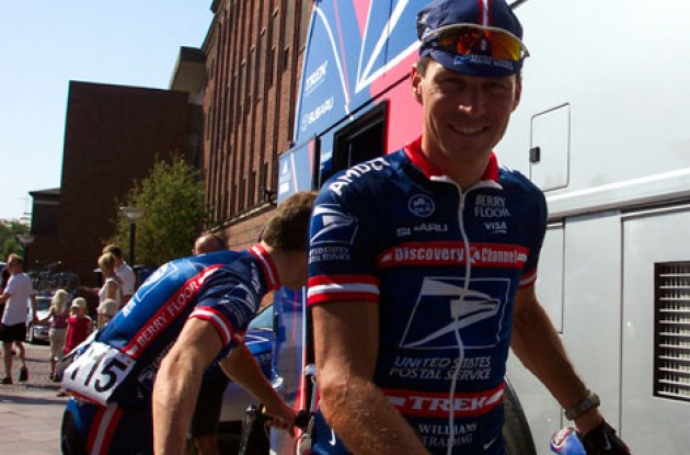 A smiling Max van Heeswijk at the start in Odense. Photo copyright Roadcycling.com.