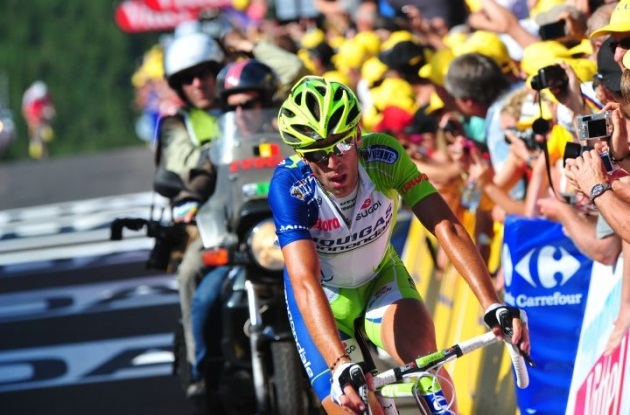 Team Liquigas-Cannondale's Vincenzo Nibali arrives. Photo Fotoreporter Sirotti.