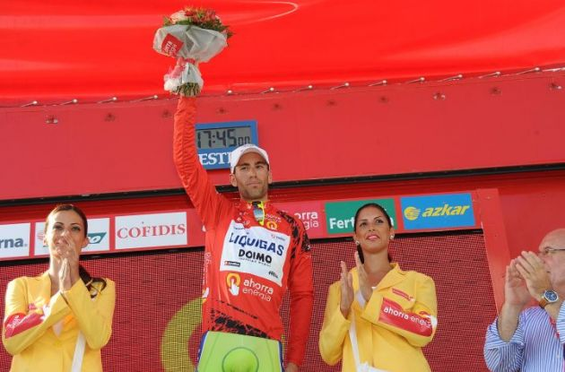 Vincenzo Nibali took over the 2010 Vuelta a Espana lead from Igor Anton who sadly crashed heavily and had to abandon the Vuelta. Photo copyright Fotoreporter Sirotti.