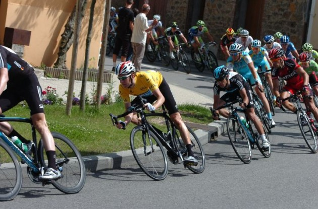Bradley Wiggins (Team Sky Procycling) maintains overall Criterium du Dauphine Libere lead. Photo Fotoreporter Sirotti.