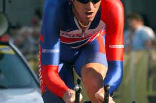 David Millar going strong. Photo copyright Fotoreporter Sirotti.