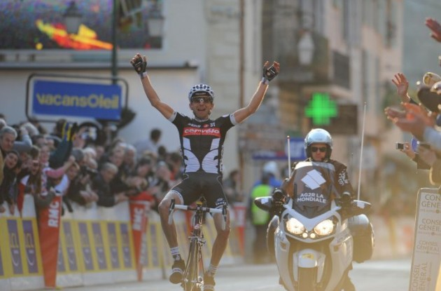 Xavier Tondo wins for Cervelo TestTeam. Photo copyright Fotoreporter Sirotti.