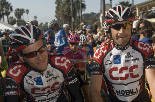 No. 2 and 3 in the overall rankings Bobby Julich and David Zabriskie. Photo copyright Roadcycling.com.