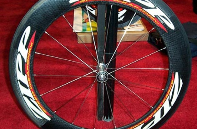 The new Zipp 808 boasts a rim depth of 81 mm. Photo copyright Roadcycling.com.